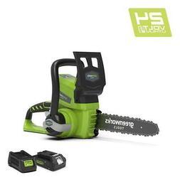 Tronçonneuse Sans Fil Greenworks 24v Avec Batterie Et Charg